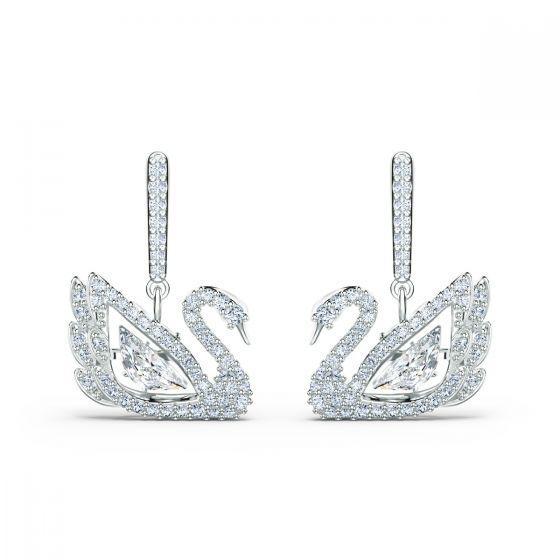 Swarovski Dancing Swan Pierced Earrings 5514420
