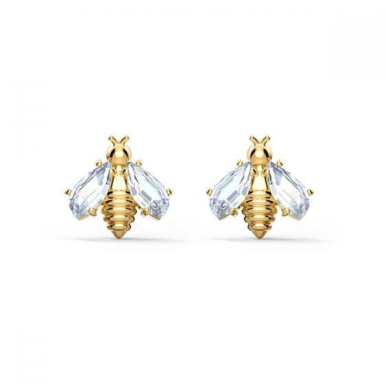 Swarovski Eternal Flower Bee Pierced Earrings - Gold-tone Plating - 5518143
