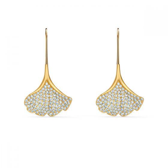 Swarovski Stunning Ginkgo Pierced Earrings - Gold-tone Plating - 5518176