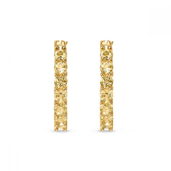 Swarovski Vittore Hoop Pierceed Earrings, Gold-Tone Plated 5522880