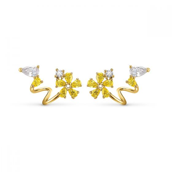 Swarovski Botanical Wrap Pierced Earrings - 5535828