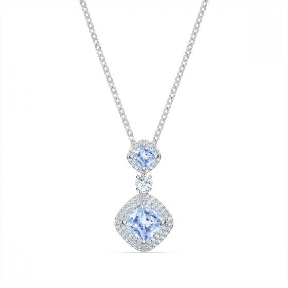 Swarovski Angelic Necklace - Blue with Rhodium Plating 5559381