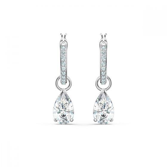 Swarovski Attract Pear Mini Hoop Pierced Earrings 5563119