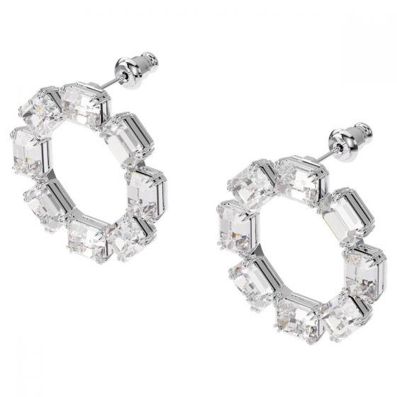 Swarovski Millenia Earrings - White with Rhodium Plating 5602780
