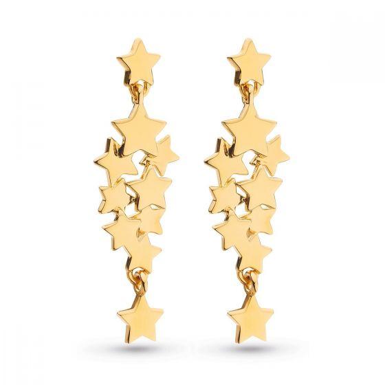 Kit Heath Stargazer Galaxy Gold Stud Drop Earrings