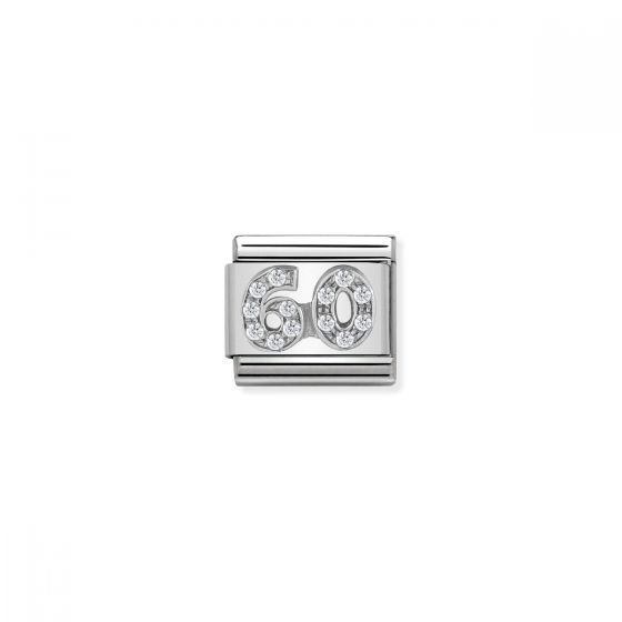 Nomination Silver and Zirconia Classic 60 Charm 330304/24