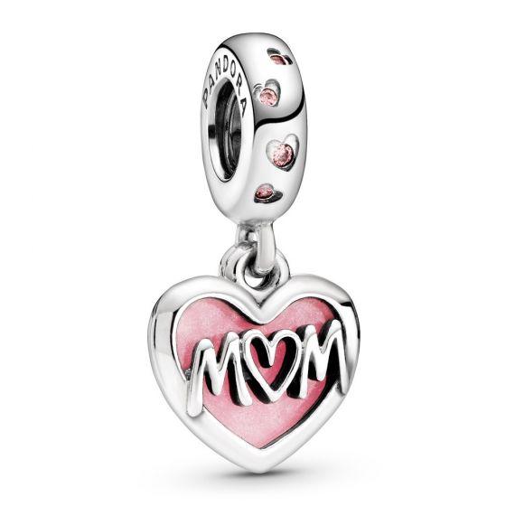 Pandora Mum Script Heart Dangle Charm 798887C01
