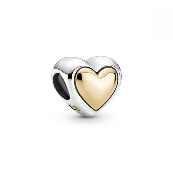 Pandora Domed Golden Heart Charm 799415C00