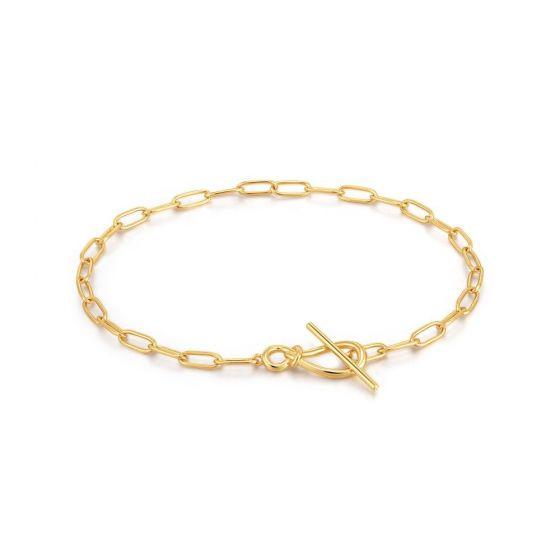 Ania Haie Gold Knot T Bar Chain Bracelet B029-01G