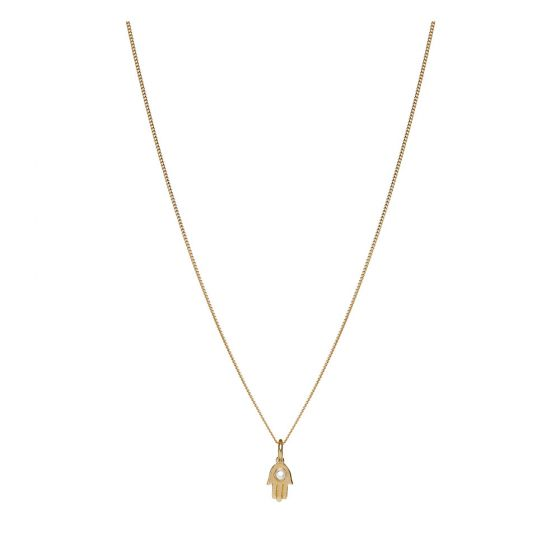 Annie Haak Itsy Bitsy Fatima's Hand Gold Necklace