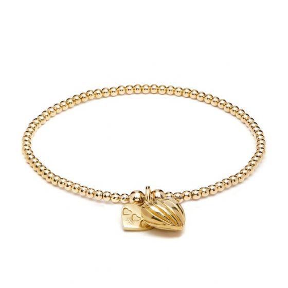 Annie Haak Santeenie Gold Charm Bracelet - Lined Heart
