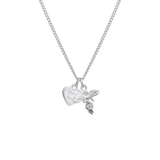 Annie Haak Stay Safe My Guardian Angel Silver Necklace