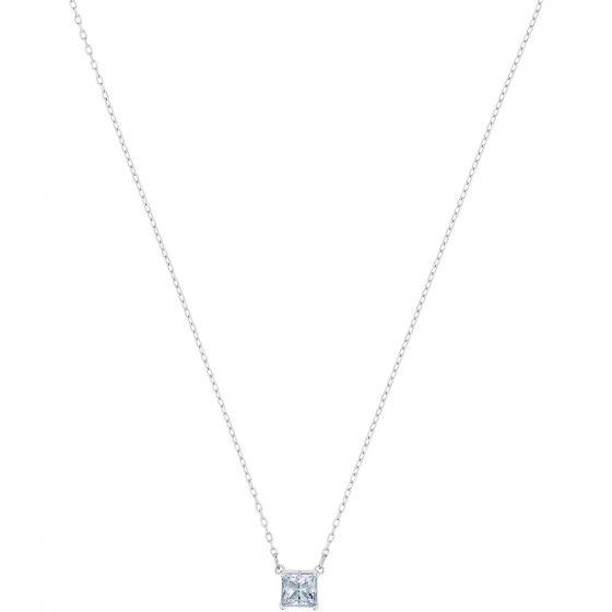 Swarovski Attract Necklace, White, Rhodium Plating 5510696