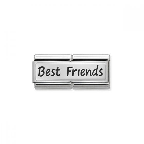 Nomination Classic Double Link Best Friend Charm - Silver - 330710/03