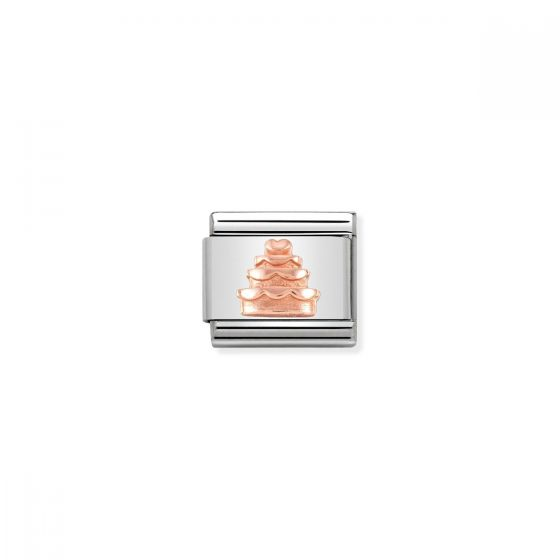 Nomination Rose Gold Classic Tiered Cake Charm - 430106/02