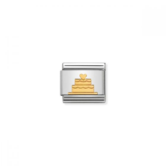 Nomination Classic Tiered Wedding Cake Charm - 18k Gold - 030162/40
