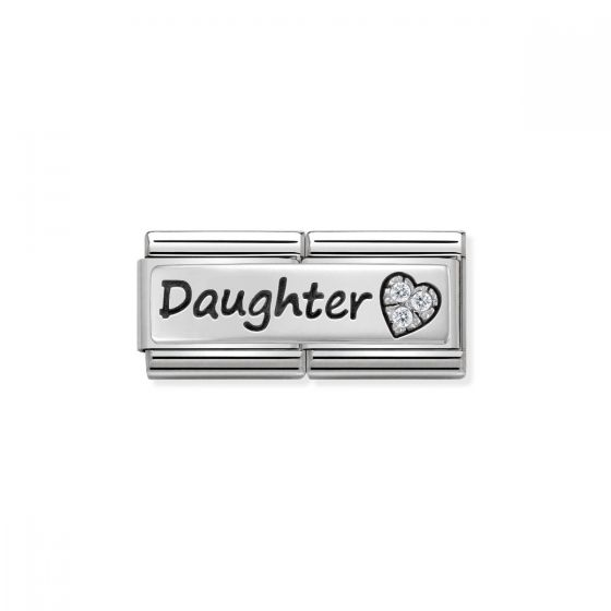 Nomination Classic Double Link Daughter Charm - Silver - 330731/02