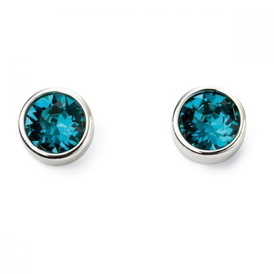 December Birthstone Earrings - Sterling Silver