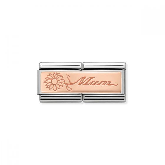 Nomination Classic Double Link Mum Charm - Rose Gold - 430710/18