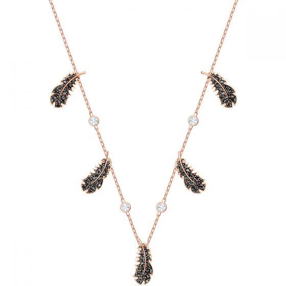 Swarovski Naughty Choker Necklace, Black, Rose Gold Plating 5497874
