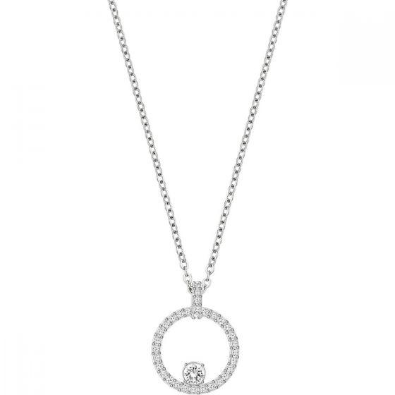Swarovski Creativity Circle Pendant, White, Rhodium Plating 5198686