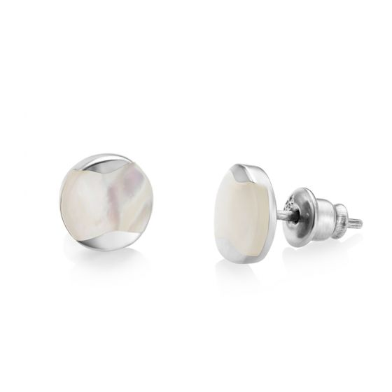 Jersey Pearl Dune Mother of Pearl Stud Earrings DUSE1-SS