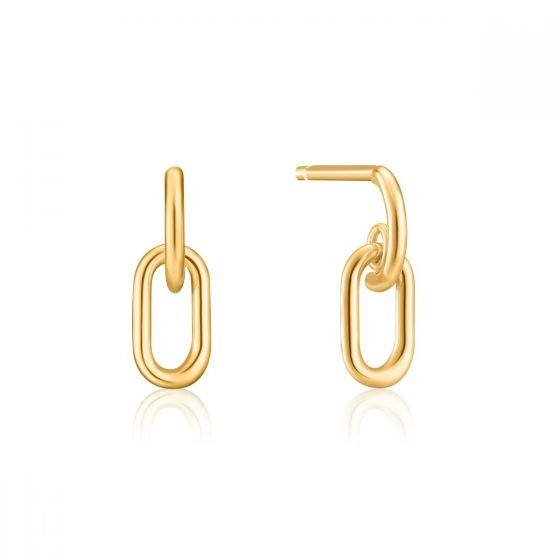 Ania Haie Gold Link Stud Earrings