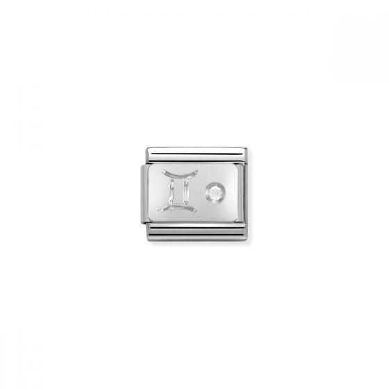Nomination Silver and Zirconia Classic Gemini Charm - 330302/03
