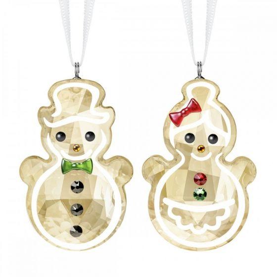 Swarovski Gingerbread Snowman Couple Ornament 5464885