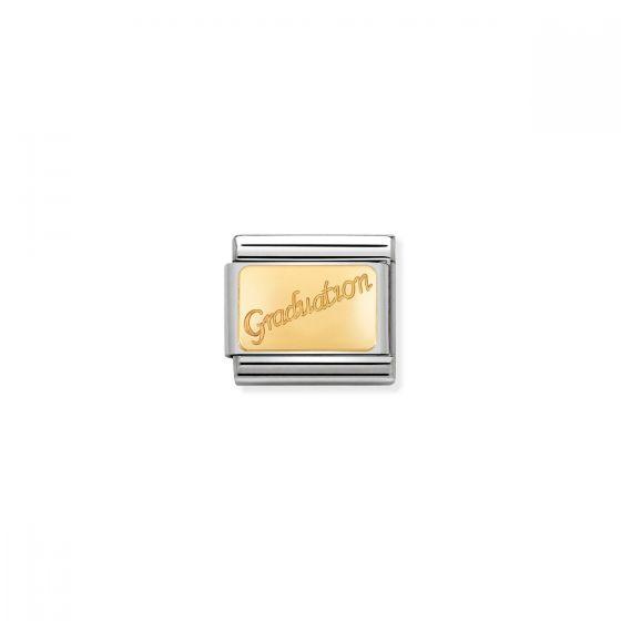 Nomination Classic Graduation Charm - 18k Gold - 030121/37