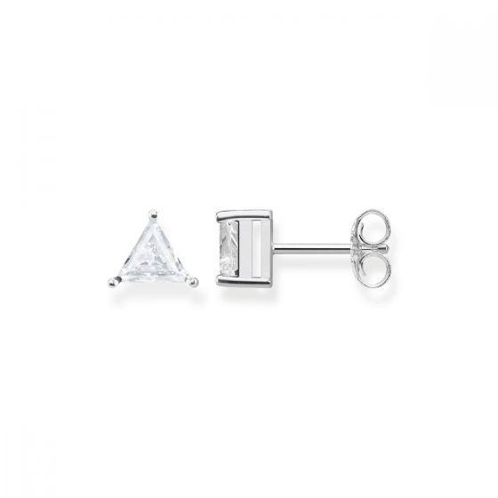 Thomas Sabo White Zirconia Triangle Stud Earrings - H1968-051-14