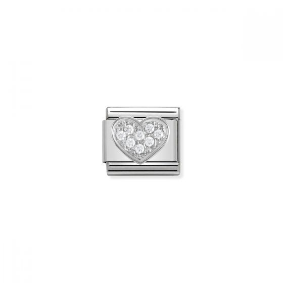 Nomination Silver and Zirconia Classic Heart Charm - 330304/01