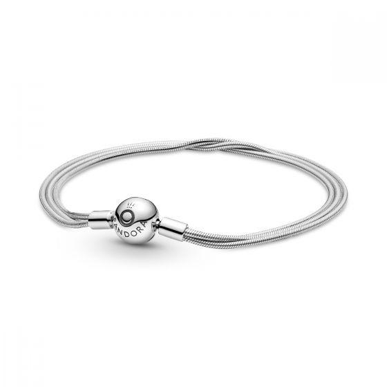 Pandora Moments Silver Multi Snake Chain Bracelet 599338C00