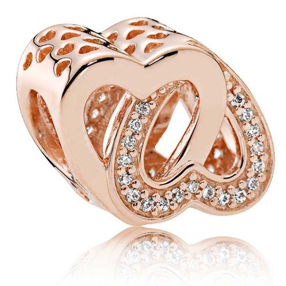 Pandora Rose Entwined Hearts Charm - 781880CZ