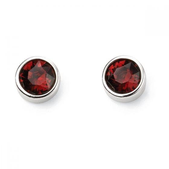 January Birthstone Earrings - Sterling Silver