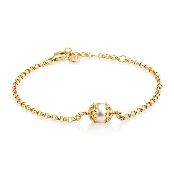 "Jersey Pearl Emma-Kate 7-8"" Bracelet, Gold"