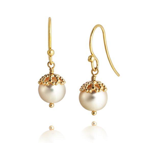 Jersey Pearl Emma-Kate Drop Earrings, Gold EKDE-GW