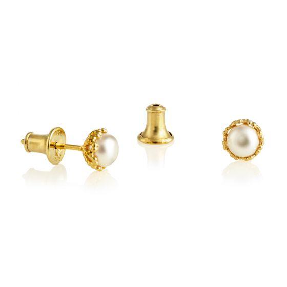 Jersey Pearl Emma-Kate Earrings, Gold