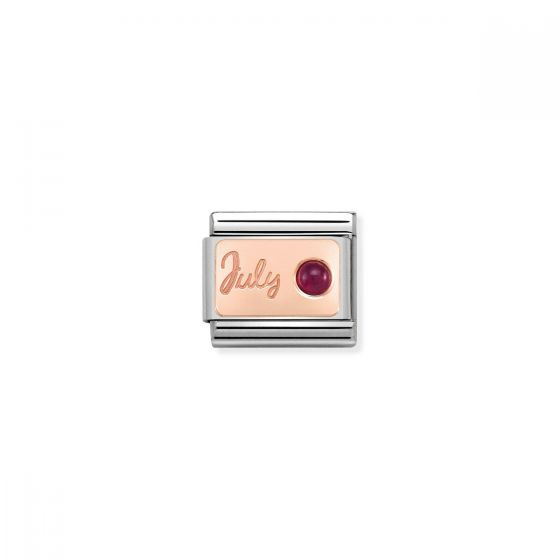 Nomination Rose Gold Classic July Birthstone Charm - 430508/07