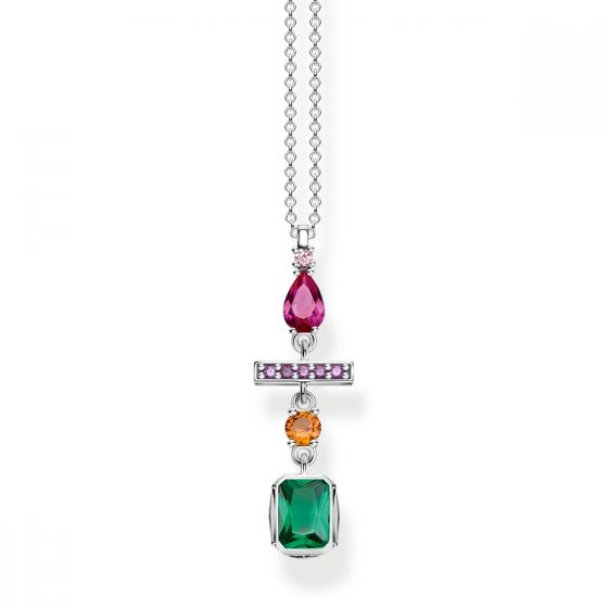 Thomas Sabo Nacklace Colourful Mix Of Forms, Silver KE1892-342-7-L45V