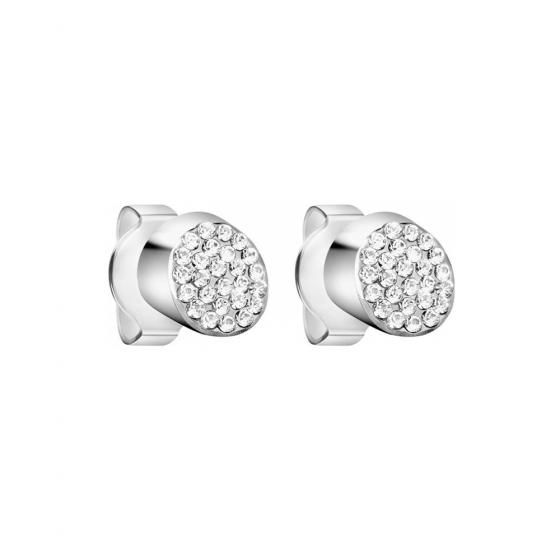 Calvin Klein Brilliant Stainless Steel and Zirconia Stud Earrings KJ8YME040100