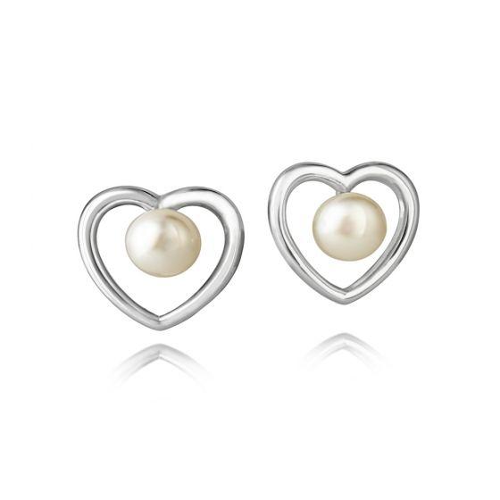 Jersey Pearl Kimberley Selwood Silver and Pearl Earrings