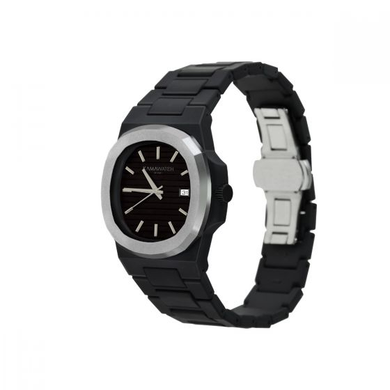 Kamawatch Vintage Millenium Watch - Black and Silver KWP23
