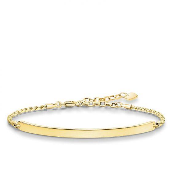 Thomas Sabo Classic Love Bridge Bracelet - 18k Gold Plating - LBA0008-413-12