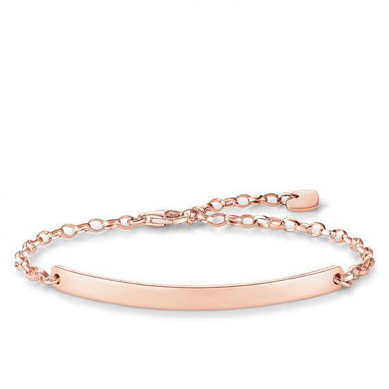 Thomas Sabo Classic Love Bridge bracelet in rose gold