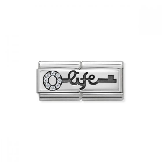 Nomination Classic Double Link Life Key Charm - Silver - 330731/04