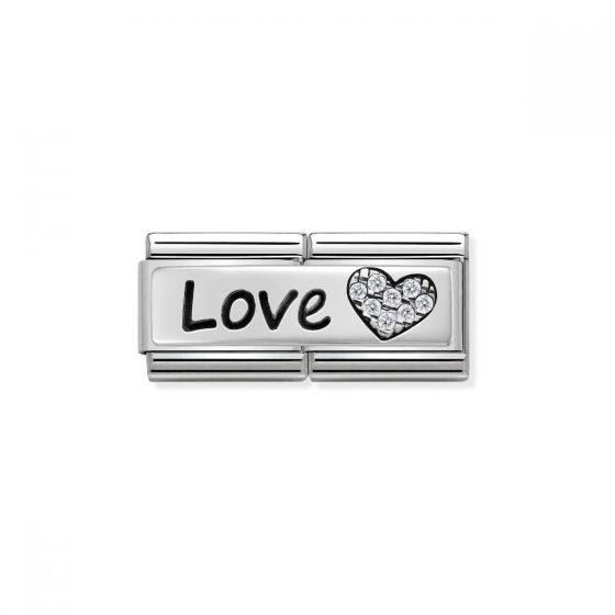 Nomination Classic Double Link Love Charm - Silver - 330731/05