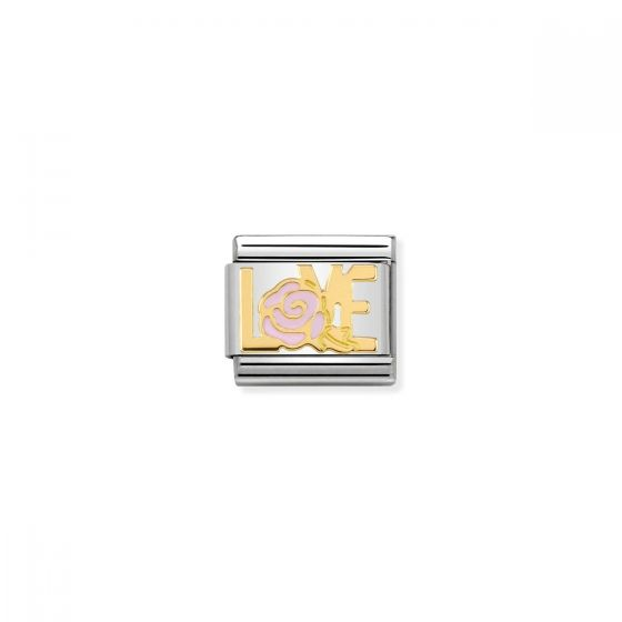 Nomination Classic Love Inscription Versailles Charm - 18k Gold - 030284/15