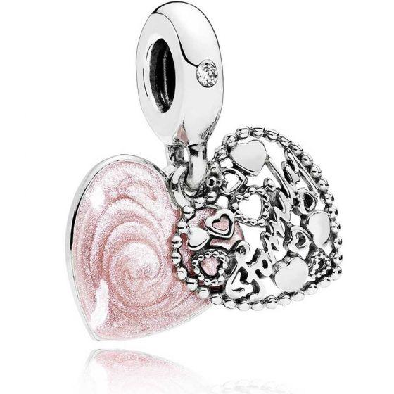 Pandora Love Makes A Family Heart Dangle Charm - 796459EN28