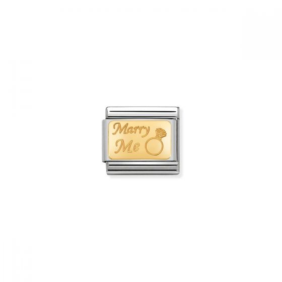 Nomination Classic Marry Me Charm - 18k Gold - 030121/44